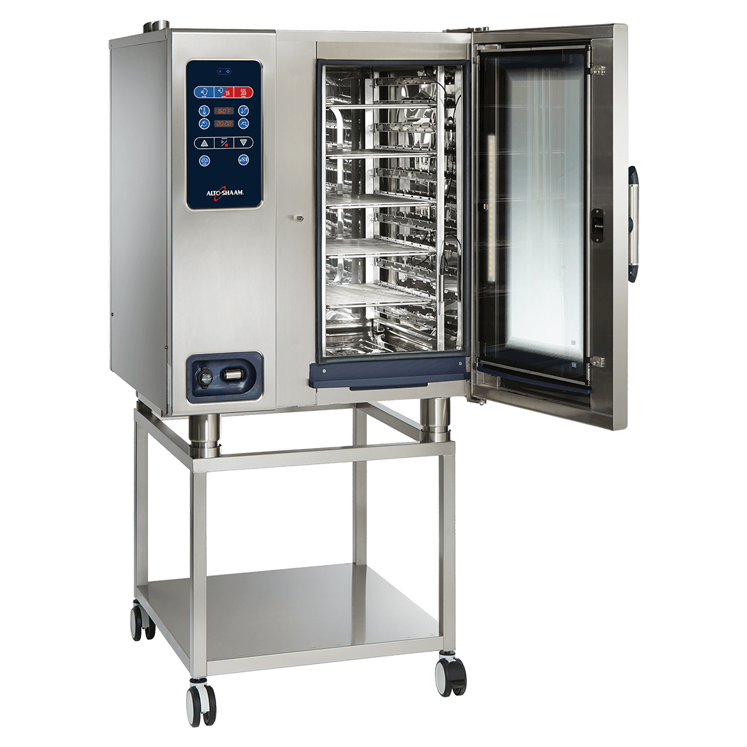 CTC10-10 Combitherm Combi Oven on stand with door open