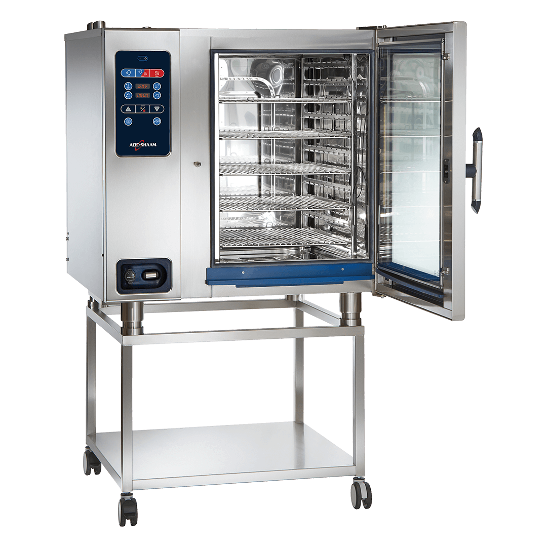 CTC10-20 Combitherm Combi Oven on stand with door open