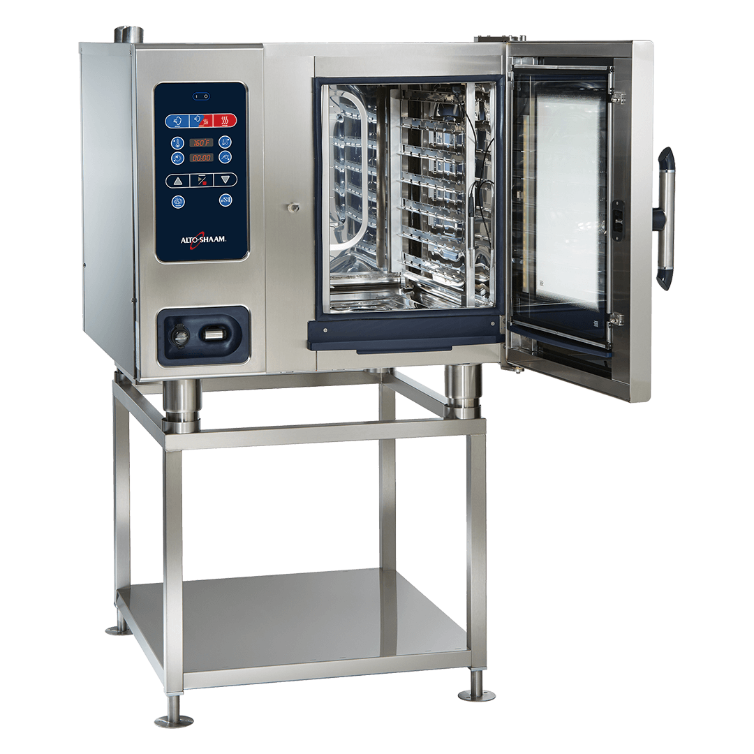 CTC6-10 Combitherm Combi Oven on stand with door open