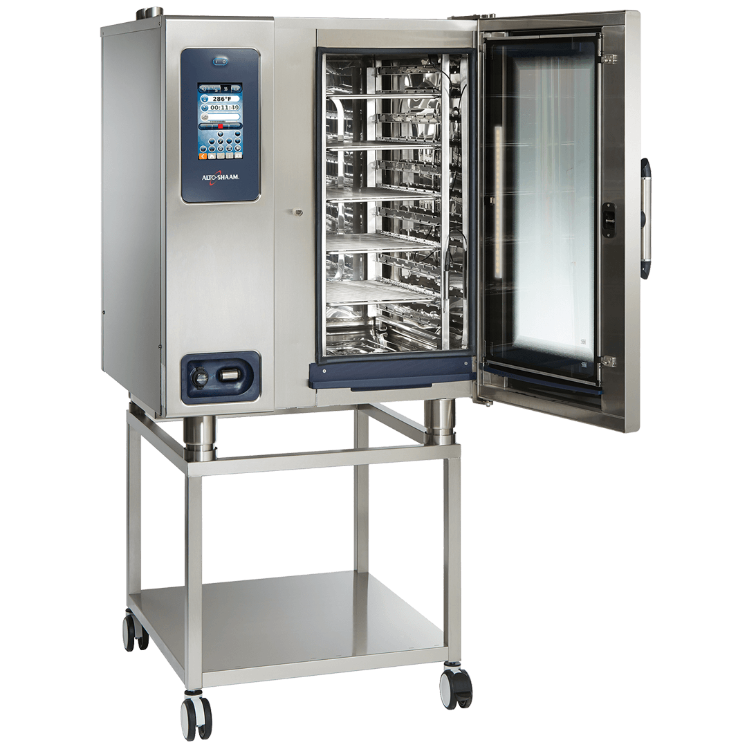 CTP10-10 Combitherm Combi Oven door open with stand