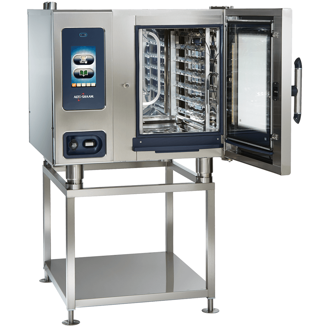CTP6-10 Combitherm Combi Oven on stand with door open