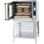 ASC-4E Convection Oven with Open Door and Full of Food