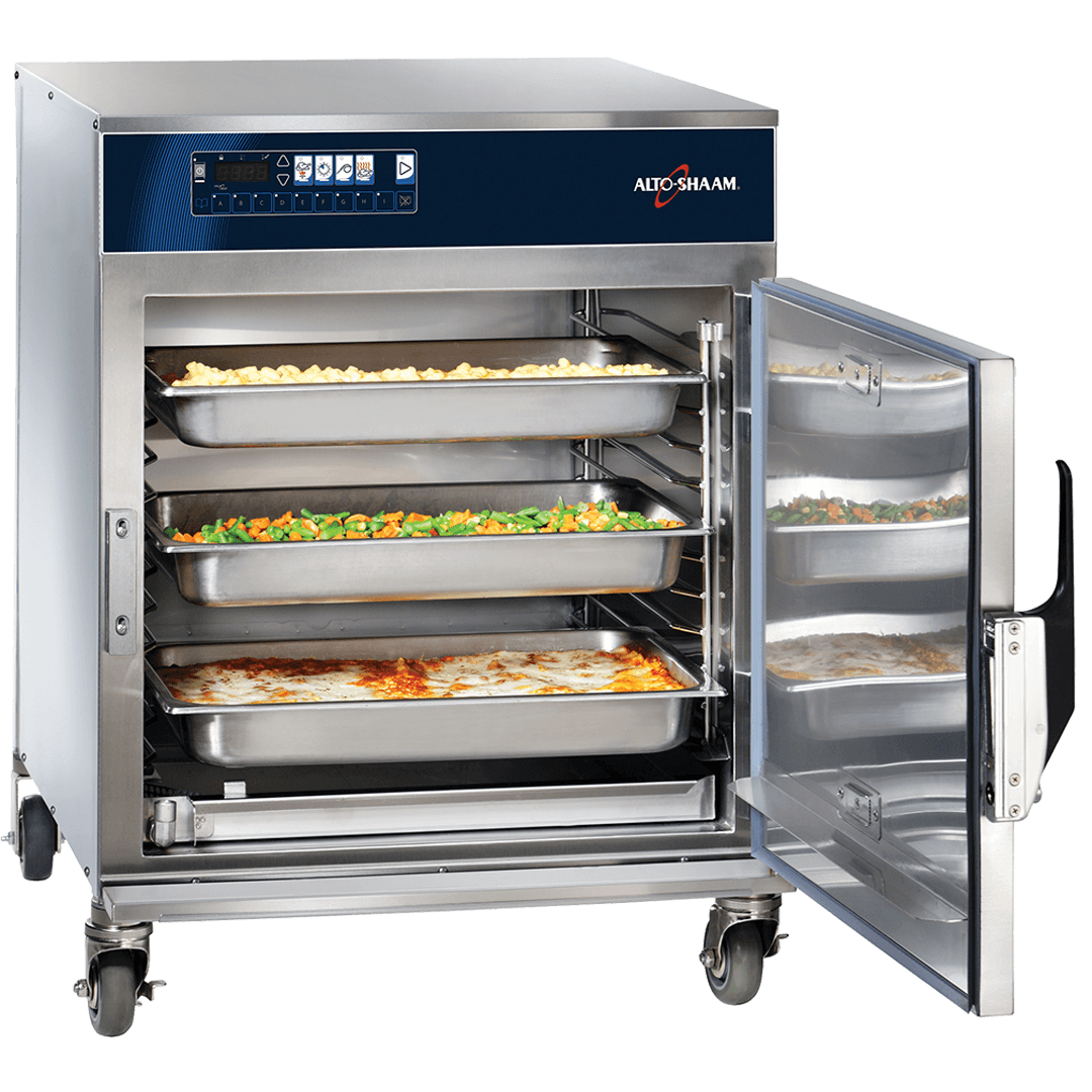 750-TH/III Cook & Hold Oven with Deluxe Controls with vegetables and lasagna