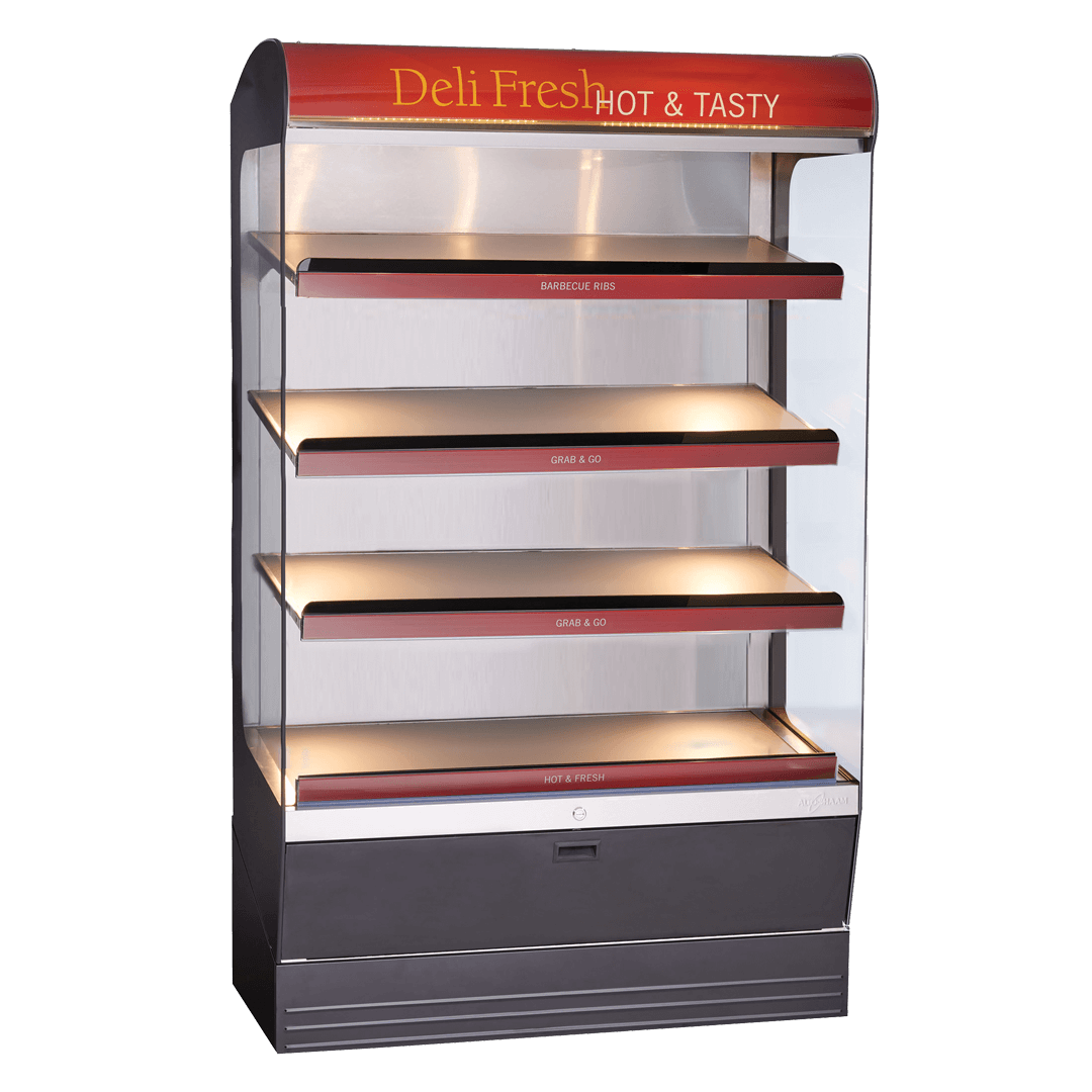 HSM-48-4S Heated Shelf Merchandiser Empty