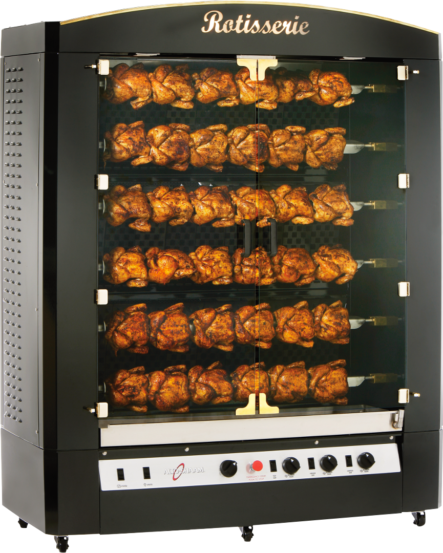 AR-6G Vertical Gas Rotisserie Cooking Chicken