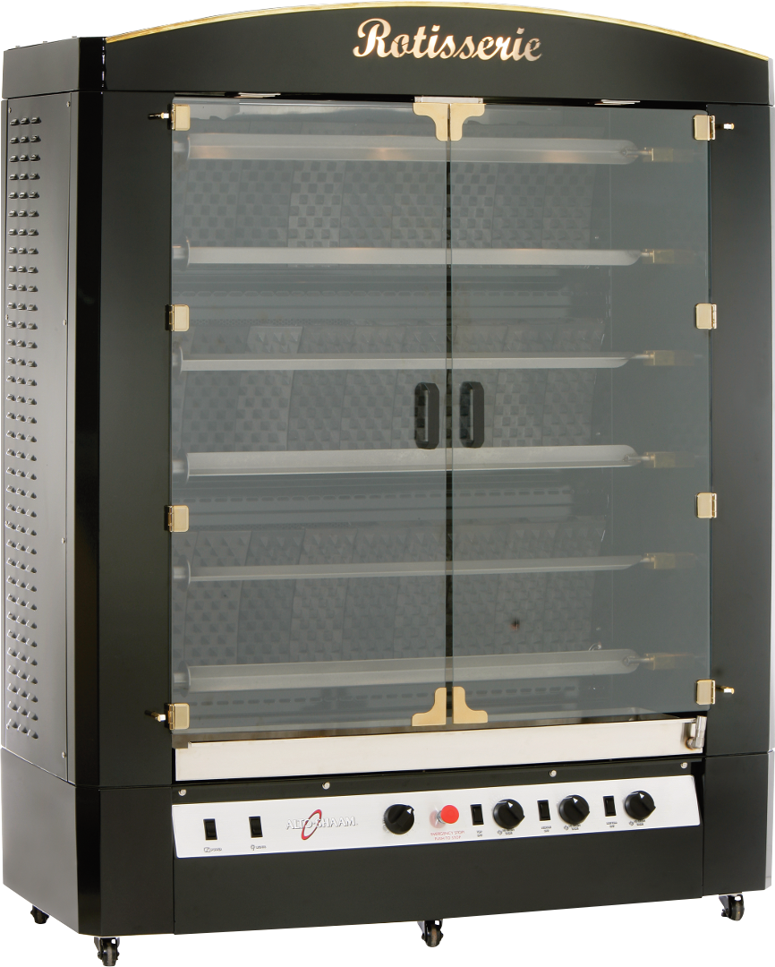 AR-6G Vertical Gas Rotisserie Doors Closed