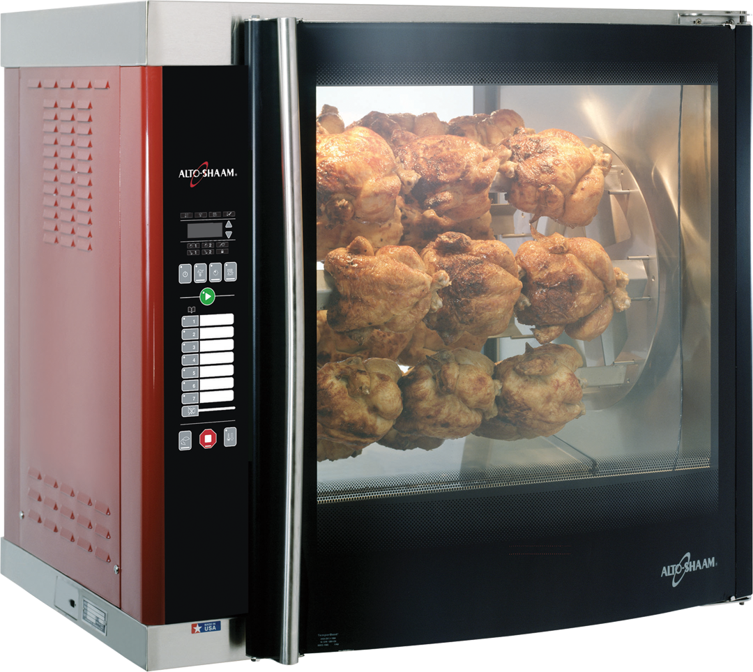 AR-7E Electric Countertop Rotisserie Cooking Chicken