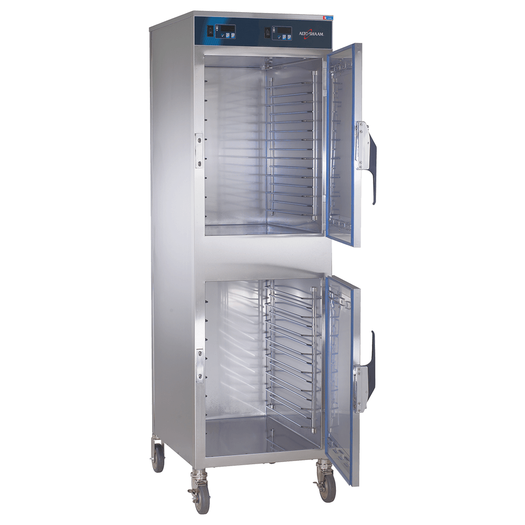 1000-UP Double Compartment Holding Cabinet Door Open