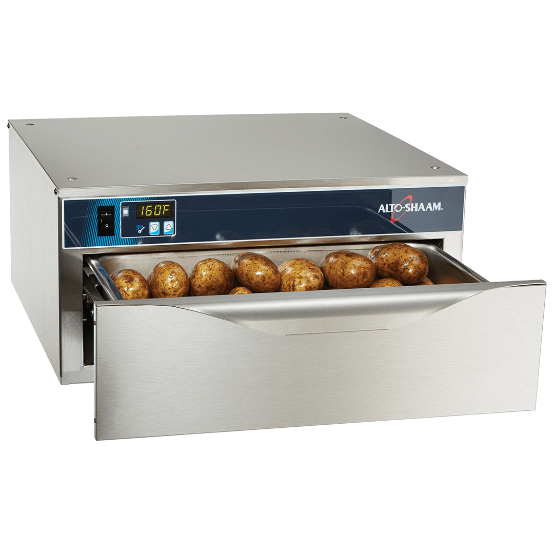500-1D Halo Heat Warming Drawer with food