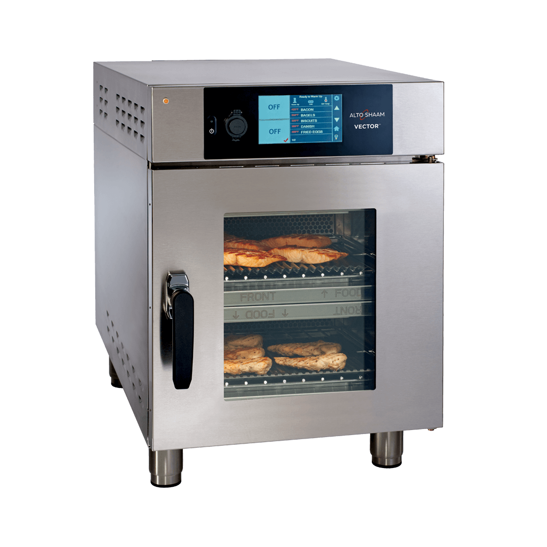 Vector H2 Multi-Cook Oven with salmon and chicken